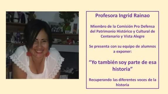 Ingrid Rainao expositora