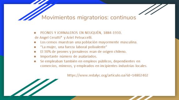 Movimientos migratorios.5- 2° Jornada de Historia Local